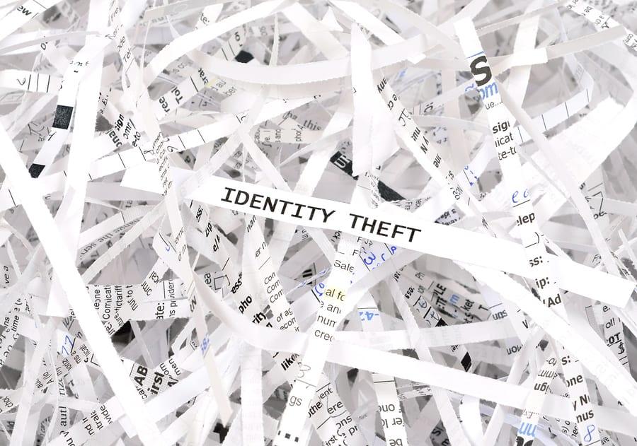 identity theft shredded paper