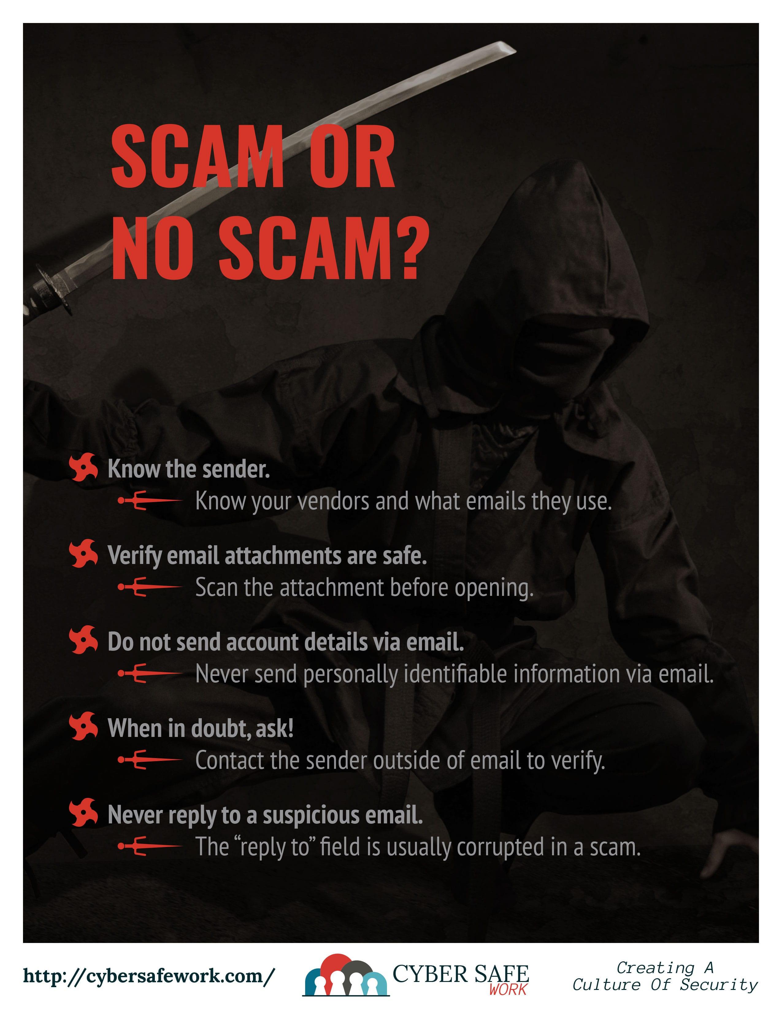 Cyber Safe Work Security Awareness Poster January 2019 -