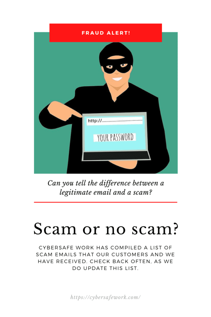 can you tell the difference between a scam and a legitimate email?